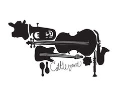 Being music related business; the creator of this logo has used various graphics of musical instruments to form the overall shape of a cow. Tolle Logos, Cow Logo, Nerd, Cow Art, Great Logos, Best Logo Design, Graphic Design, Creative Logo, Creative Business