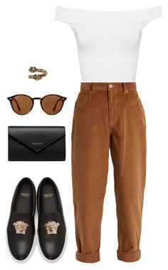 Street style by dalma-m on Polyvore featuring polyvore fashion style WearAll Miu Miu Versace Balenciaga Alexander McQueen Ray-Ban clothing