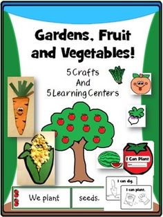 Cute garden crafts plus lots of fun literacy and math centers. Perfect for pre-k through 2nd grade!