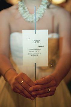 Niiiice. :-) Wedding sparkler exit!    www.wedinthecity.com