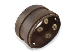 leather bracelet man woman leather bracelet gift by RecordModa