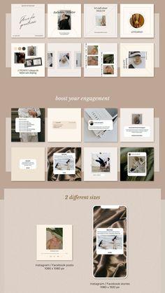 Social Media Template, Social Media Design, Instagram Design, Instagram Feed, Blog Design, Web Design, Instagram Post Template, Minimalism, Branding Design