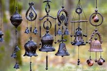 Bells and windchimes to circulate the good energy