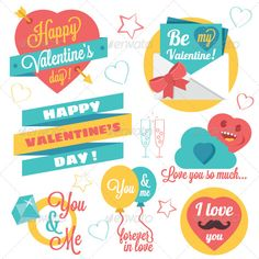 20 Postcard Happy Valentine's Day