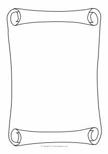 Scroll/parchment A4 page borders (SB3643) - SparkleBox