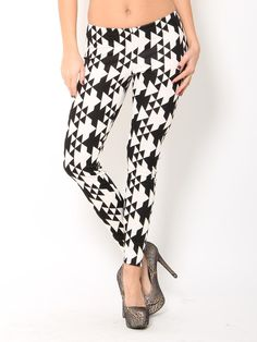 Abstract Pattern Leggings I do like these; but couldn't get away with now! But, cute!