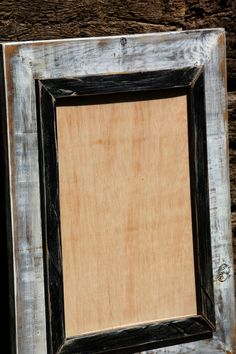 11X14 White & Black Stressed Frame by CaliforniaRustic on Etsy, $45.00