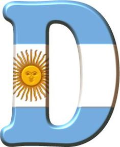 Alfabeto con la Bandera de Argentina. Argentina Country, English Letter, Letters And Numbers, Ideas Para, Minions, Decoupage, Alphabet, How To Memorize Things, 1