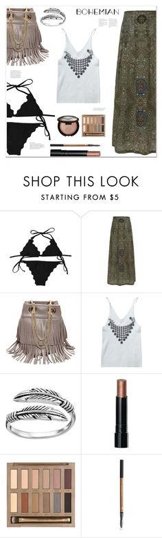 """""""Bohemian inspired"""" by mycherryblossom ❤ liked on Polyvore featuring Primrose, Bobbi Brown Cosmetics, Urban Decay and Becca"""