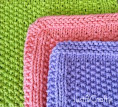 Knit up some adorable Seed Stitch Dishcloths!