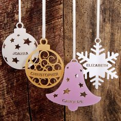 Personalised Christmas Tree Decoration from notonthehighstreet.com