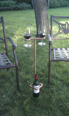 Wine Sherpa - picnic? bring this along. Holds your glasses and your bottle.$30 plus shipping.