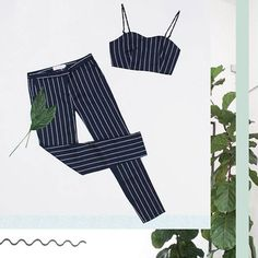 One of our newest designs will be available on our new website soon! #launch #fashion #pinstripe #co-ord #twopiece #outfit #style #aw14 #navy #trend #styling #style #minimal #blogger #fblogger #lolamay #lolamayclothing