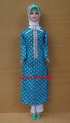 This is a modest Muslim doll with hijab and dressed stylishly to.you can get it at muslimtoysanddolls.com over 5,600 items