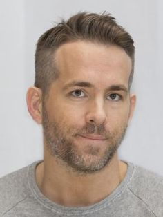 Ryan Reynolds: Best Performance by an Actor in a Motion Picture - Musical or Comedy: Deadpool Mens Hairstyles With Beard, Slick Hairstyles, Haircuts For Men, Military Haircuts, Ryan Reynolds Haircut, Short Hair Man, Gentleman Haircut, Barber Shop Haircuts, Blake Lively Ryan Reynolds