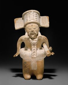 Ball Player, 7th–10th century. Mexico, Mesoamerica, Veracruz. Nopiloa. The Metropolitan Museum of Art, New York. Purchase, Harris Brisbane Dick Fund, 1989 (1989.28) #Olympics #London2012 | The rules and manner in which the Mesoamerican ballgame was played varied among contemporary sites and evolved through time.