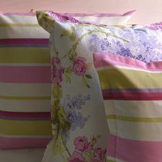 Set 3 cuscini coordinati righe fiori primavera estate di disirlab