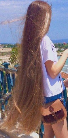 Classic dark blonde long hair with great texture waving in the wind