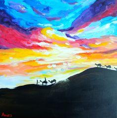 "Happy Ramadan! + ""Desert Sky"" Painting | The Art of Amira Rahim"