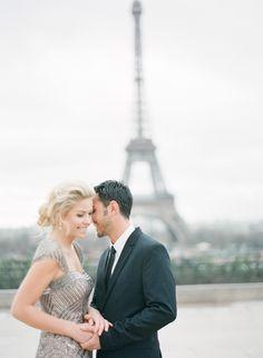 Paris glam.  Photography: Loren Routhier - lorenrouthierphotography.com/  Read More: http://www.stylemepretty.com/destination-weddings/2014/11/27/romantic-wedding-inspiration-shoot-in-paris/