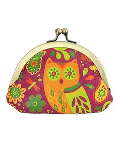 Loving this Purple Owl Kiss-Lock Coin Purse on #zulily! #zulilyfinds