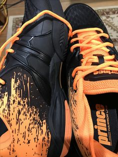 Prince Warrior black and orange. Prince Warrior, Warrior Shoes, Jordans Sneakers, Air Jordans, Orange, Black, Fashion, Moda, Black People
