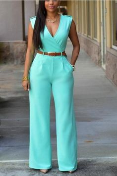 Women sashes high waist v-neck loose wide leg pants summer jumpsuit Casual Rompers Asos Jumpsuit, Casual Jumpsuit, White Jumpsuit, Summer Jumpsuit, Ladies Jumpsuit, Elegant Jumpsuit, Cotton Jumpsuit, White Pants, Romper Outfit