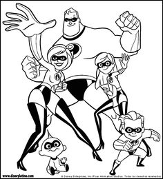 The Incredibles Color Page Disney Coloring Pages Plate Sheetprintable Picture