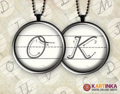 Alphabet HOW to WRITE LETTERS 1 inch circles  by KARTINKAshop, $3.50