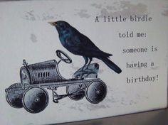 Woodland crow birthday card altered steampunk vintage by iwathd09, $3.95