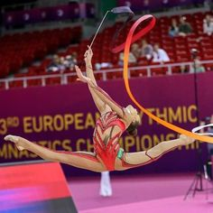Dina AVERINA (Russia) ~ Ribbon @ European Championship Budapest-Hungary Kate Ianiuk.