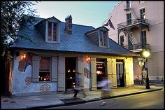 Lafitte's Blacksmith Shop, home of my favorite drink in the city: the Hurricane