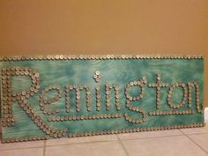 Remington hunting sign with shotgun shells by SouthernHomeArt, $100.00