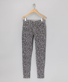 Another great find on #zulily! Gray Leopard Corduroy Pants - Girls by Dollhouse #zulilyfinds