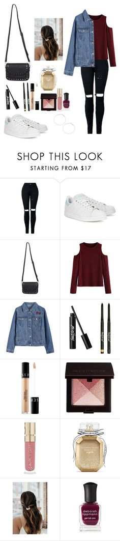"""""""Untitled #749"""" by vasicnco1d ❤ liked on Polyvore featuring adidas Originals, WithChic, Sephora Collection, Laura Mercier, Smith & Cult, Victoria's Secret, Deborah Lippmann and Design Lab"""