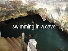 This is the cave Adam & I jumped in for a swim in Punta Cana! It was scary and exhilarating at the same time. Lol