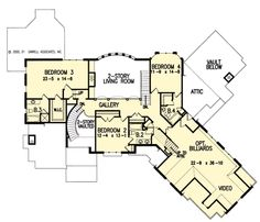The Lansdowne Place House Plans First Floor Plan - House Plans by ...