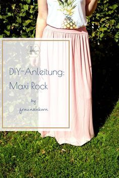 DIY Guide: Maxi Rock – DIY tutorial maxi skirt The post DIY Guide: Maxi Rock – appeared first on DIY Fashion Pictures. Sewing Clothes, Diy Clothes, Jersey Maxi, Knitting Patterns, Sewing Patterns, Sewing Ideas, Diys, Tutorial Diy, Skirt Tutorial
