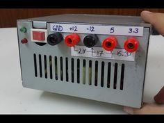 تحويل بورسبلاي الكومبيوتر الى مجهزقدرة How to convert ATX power supply to Bench power supply - YouTube
