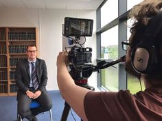 The team is on set with Topic UK magazine! We're filming some talking heads for an upcoming video using our trusty Sony A7Sii and SmallHD monitor. https://www.stadavideo.co.uk/
