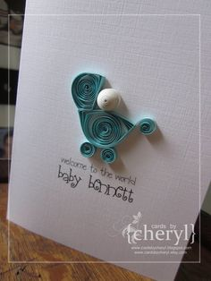 ~ a paper {life}: ~ quilled baby buggy