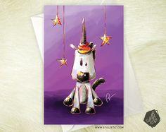 Pré-commande : Carte de voeux Amitié Anniversaire Licorne magique : Cartes par stillistic