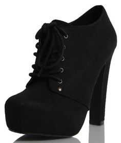 soda black faux suede lace up platform high heel ankle boots black suede high heeled by giuseppe zanotti Lace Heels, Ankle Heels, High Heel Boots, Heeled Boots, Shoe Boots, Ankle Boots, Shoes Heels, Cute Shoes, Me Too Shoes