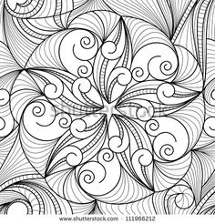 vector seamless black and white drawing texture