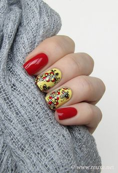 Adorable red and yellow design