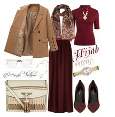 #Hijab_outfits #modesty #Winter by mennah-ibrahim on Polyvore featuring polyvore fashion style Dion Lee Yves Saint Laurent Burberry Cartier Elizabeth and James Louis Vuitton Gucci clothing