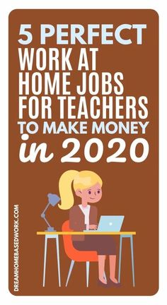 📌 Do you know it is possible to make money online as a Teacher? If you enjoy transferring knowledge to people, then teaching online is a great job for you. Transfer your skills to work from home with these 5 jobs!  Learn more and make your dream of working from home a reality!  #teacher #teaching #jobs #workathome Work From Home Companies, Work From Home Opportunities, Work From Home Jobs, Online Teaching Jobs, Online Tutoring, Earn Money From Home, How To Make Money, Online English Teacher, Home Based Work