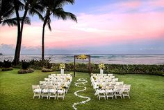 Moana Surfrider, Waikiki Beach - Wedding Diamond Lawn
