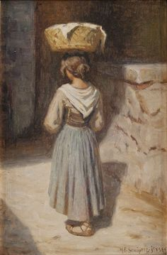 Girl with Basket - Niels Frederik Schiottz-Jensen