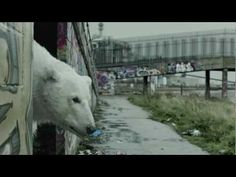 """#charity: Radiohead has partnered with @Greenpeace for new ad showing homeless polar bear wandering around London, set to soundtrack of """"Everything In Its Right Place."""" With narration from @JudeLaw, the clip is being used to help raise awareness about oil companies looking to drill in the Arctic."""